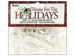 "Darice Holiday Decor Snowflake 2"" Gltr White 12pc"