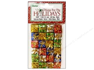 "Darice Holiday Decor Gift Box .5"" Multi 24pc"