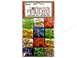 "Darice Holiday Decor Gift Box 1"" Multi 12pc"