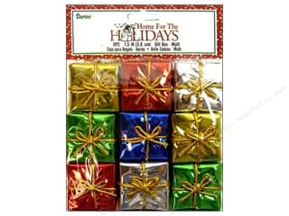 "Darice Holiday Decor Gift Box 1.5"" Multi 9pc"