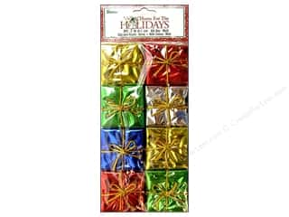 "Darice Holiday Decor Gift Box 2"" Multi 8pc"
