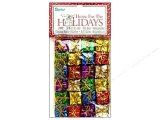 "Darice Holiday Decor Gift Box .5"" Holo Multi 24pc"