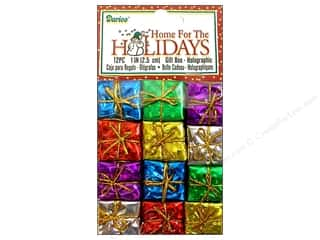 "Darice Holiday Decor Gift Box 1"" Holo Multi 12pc"