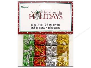 "Darice Holiday Decor Gift Box .5"" Multi 12pc"