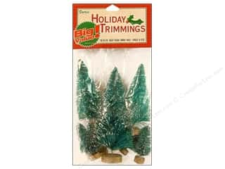Darice Holiday Decor Sisal Trees Frosted Astd 8pc