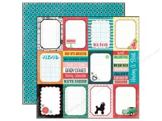 Echo Park 12 x 12 in. Paper Happy Days Journaling Cards (25 sheets)