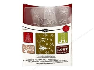 Sizzix TI Embossing Folders 5PK Sending Christmas Love