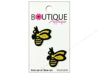 Blumenthal Boutique Applique Yellow & Black Bees 2 pc.