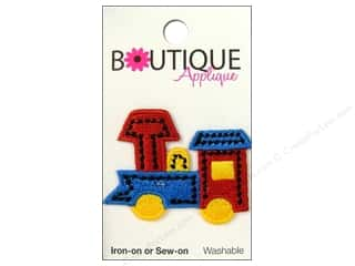 Blumenthal $3 - $4: Blumenthal Boutique Applique 1 3/4 in. Train Blue/Red/Yellow