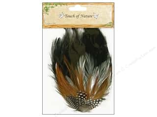 "Guinea feather: Midwest Design Feather Hackle Pad 4""x 6"" Guinea"