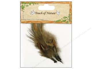 "Midwest Design Feather Pick 3-7"" Brown 3pc"
