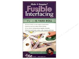 Interfacings 15 Yards: C&T Make It Simpler Fusible Interfacing 1 1/2 in. x 15 yd.