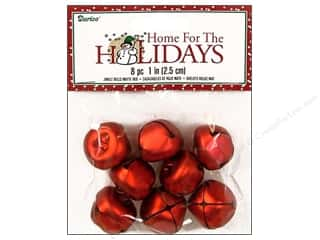 Darice Bells Jingle 25mm Matte Red 8pc