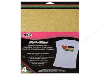 Tulip Iron On Transfer Sheet Shimmer Primary 4pc