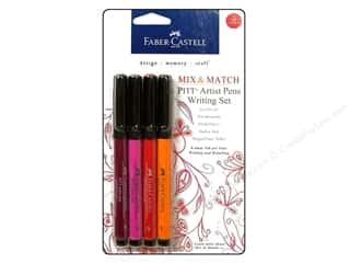 Stamps mm: FaberCastell Pitt Artist Pen Mix & Match Writing Set Red/Yellow