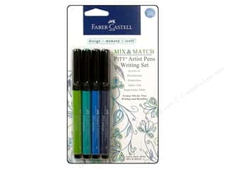 Faber Castell FaberCastell Stampers Big Brush Pen: FaberCastell Pitt Artist Pen Mix & Match Writing Set Blue/Green