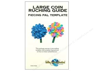Quilting Creations Ruching Guides: Quilting Creations Ruching Guide Piecing Pal Large Coin