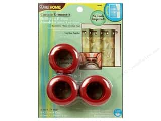 plastic curtain grommets: Dritz Home Curtain Grommets 1 in. Round Red 8pc