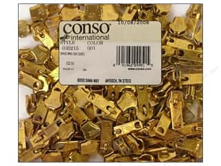 Conso Zipper Wing Lock Slider Brass For 030209.3 (100 pieces)