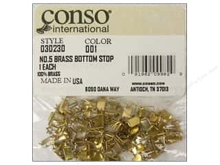 Sewing Construction Zippers: Conso Zipper Bottom Stop #5 Brass For 030209.3 (100 pieces)
