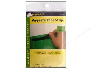 "ProMag Magnet Strip with Adhesive .5""x 4"" 18pc"