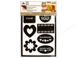 Valentines Day Gifts: Plaid Stencil Folkart Peel & Stick Gift Tags