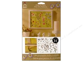 Plaid Rub-On Transfers Folkart Easy Paint Patterns Wildflowers