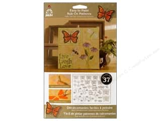Plaid Rub-On Transfers Folkart Easy Paint Patterns Butterflies