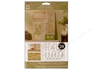 rub-ons: Plaid Rub-On Folkart Easy Paint Ptrn Foliage