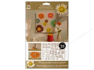 Rub-Ons: Plaid Rub-On Transfers Folkart Easy Paint Patterns Daisies