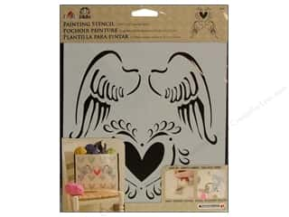 Plaid Stencil FolkArt Painting Angel Wings