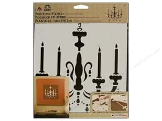 Stenciling Clearance Crafts: Plaid Stencil FolkArt Painting Chandelier