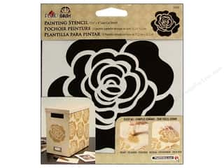 Plaid Stencil Folkart Painting Single Rose