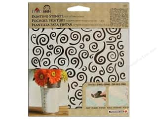Stenciling Craft Paint: Plaid Stencil FolkArt Painting Swirls Background