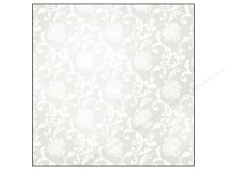 SEI Paper 12x12&quot; White Elegance Foil Vows (25 sheets)