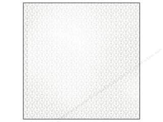 SEI Paper 12x12&quot; White Elegance Foil Garter (25 sheets)