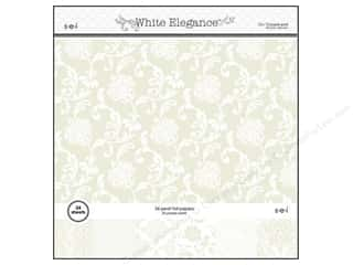 SEI Paper Pad 12&quot;x12&quot; White Elegance 24pg