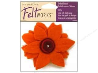 Dimensions Feltworks 100% Wool Felt Zinnia Flower