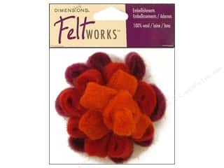 Yarn Burgundy: Dimensions Feltworks 100% Wool Felt Embellishment Red Looped Bow