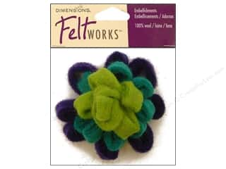 Felting Blue: Dimensions Feltworks 100% Wool Felt Embellishment Blue Looped Bow