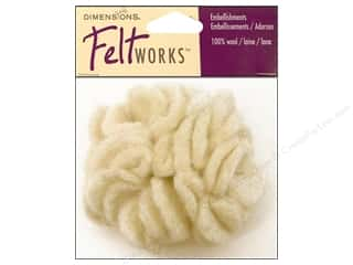 Dimensions Feltworks 100% Wool Felt Snow Ball Flwr
