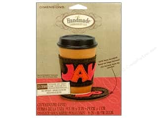 Appliques Craft & Hobbies: Dimensions Applique Kit Felt Coaster/Cozy Java