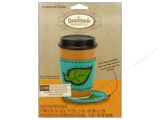 Crafting Kits Dimensions: Dimensions Applique Kit Felt Coaster/Cozy Leaf
