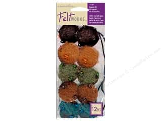 Dimensions Dimensions Applique Kit: Dimensions Feltworks Needle Felting Kits Bead Bracelet Blue/Brown