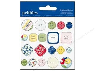 Pebbles Embel Fresh Goods Chipboard Buttons