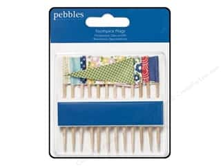 Pebbles Inc $4 - $12: Pebbles Embellishment Fresh Goods Toothpick Flags
