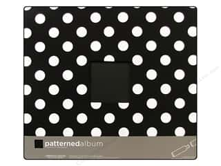 American Crafts Postbound Album 12 x 12 in. Polka Dot Black/White
