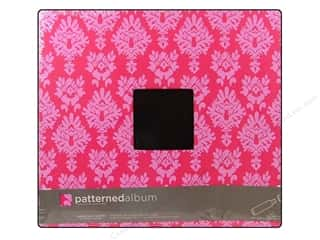 American Crafts Postbound Album 12 x 12 in. Pink Damask