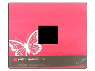 "Chipboard Albums: American Crafts Album 12""x 12"" PB Butterfly Pink"