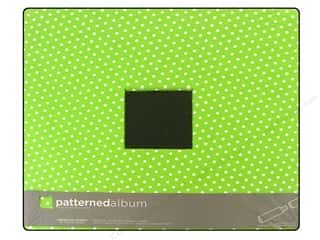 "Chipboard Albums: American Crafts Album 12""x 12"" PB Polka Dot Green"